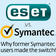 Image of ESET vs. Symantec for infographic